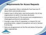 requirements for access requests