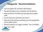 safeguards recommendations