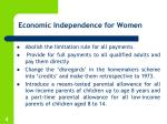 economic independence for women