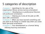 5 categories of description