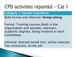 cpd activities reported cat 1