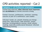 cpd activities reported cat 2
