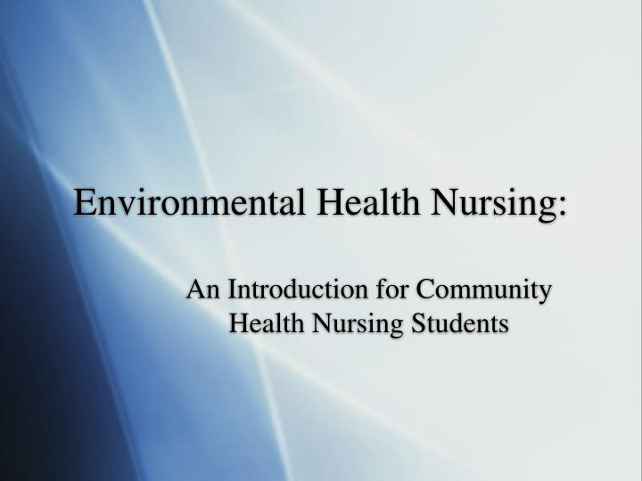 environmental health nursing n.