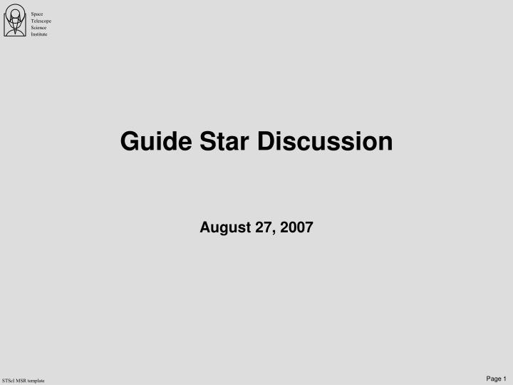 guide star discussion n.