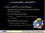 accountability and dafis