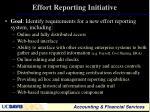 effort reporting initiative