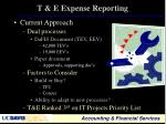 t e expense reporting