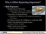 why is effort reporting important1