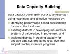 data capacity building
