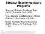 educator excellence award programs