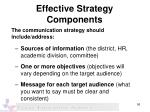 effective strategy components