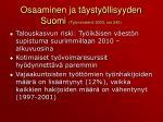 osaaminen ja t ysty llisyyden suomi ty ministeri 2003 nro 245