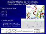 molecular mechanics force fields basic interactions and their models8