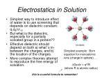 electrostatics in solution
