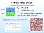 hydration free energy