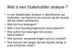 wat is een stakeholder analyse