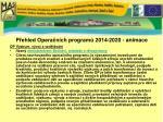 p ehled opera n ch program 2014 2020 animace
