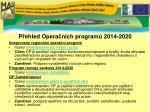 p ehled opera n ch program 2014 2020