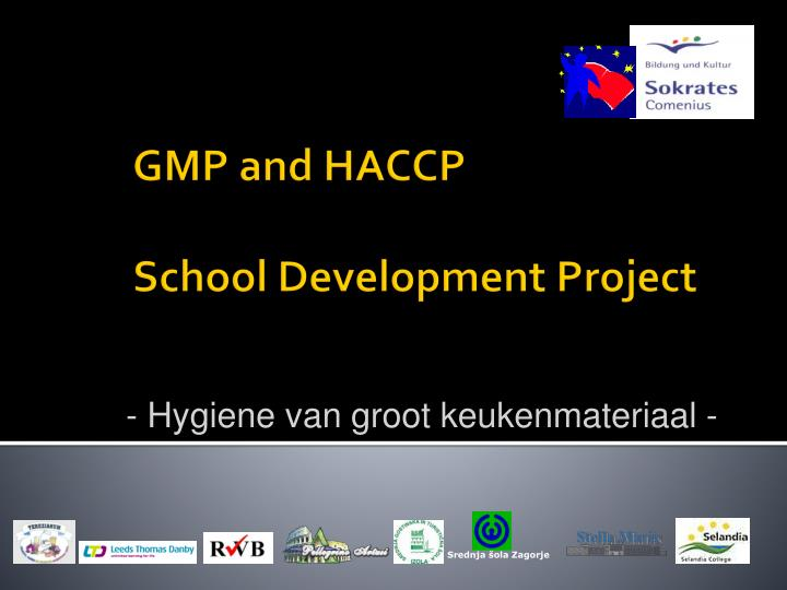 gmp and haccp school development project n.