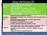 uloga elemenata zp