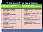 vrijednosti zp za organizaciju