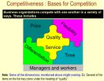 competitiveness bases for competition