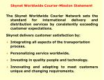 skynet worldwide courier mission statement
