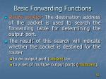 basic forwarding functions4