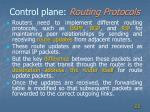 control plane routing protocols
