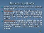 elements of a router