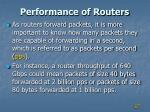 performance of routers1