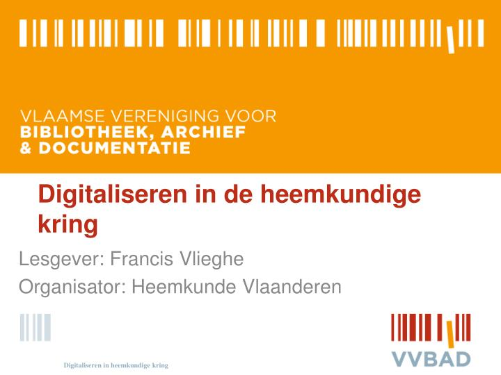 digitaliseren in de heemkundige kring n.