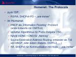 homenet the protocols
