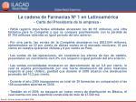 la cadena de farmacias n 1 en latinoam rica carta del presidente de la empresa