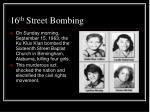 16 th street bombing