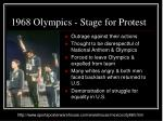 1968 olympics stage for protest