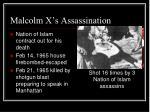 malcolm x s assassination
