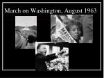 march on washington august 1963
