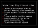 martin luther king jr assassination