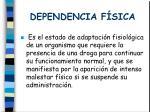 dependencia f sica