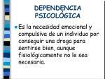 dependencia psicol gica