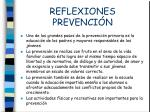 reflexiones prevenci n