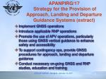 apanpirg 17 strategy for the provision of approach landing and departure guidance systems extract