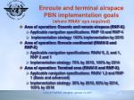 enroute and terminal airspace pbn implementation goals where rnav ops required