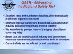 gasr addressing the regional safety risk