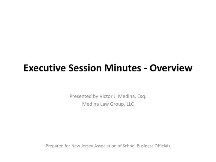 executive session minutes overview n.