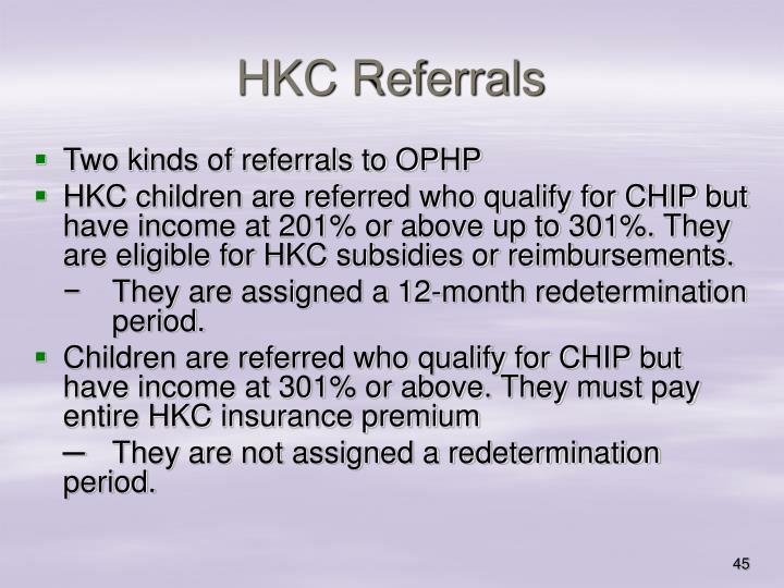 HKC Referrals