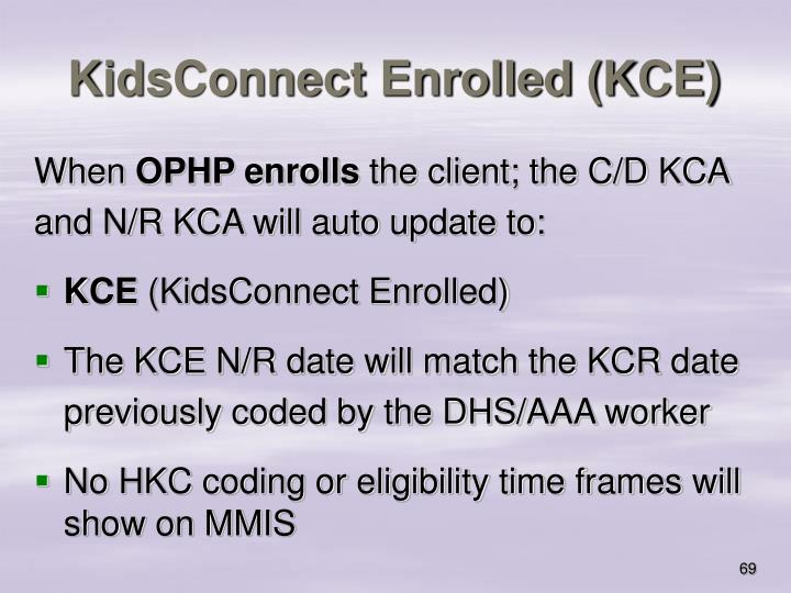 KidsConnect Enrolled (KCE)