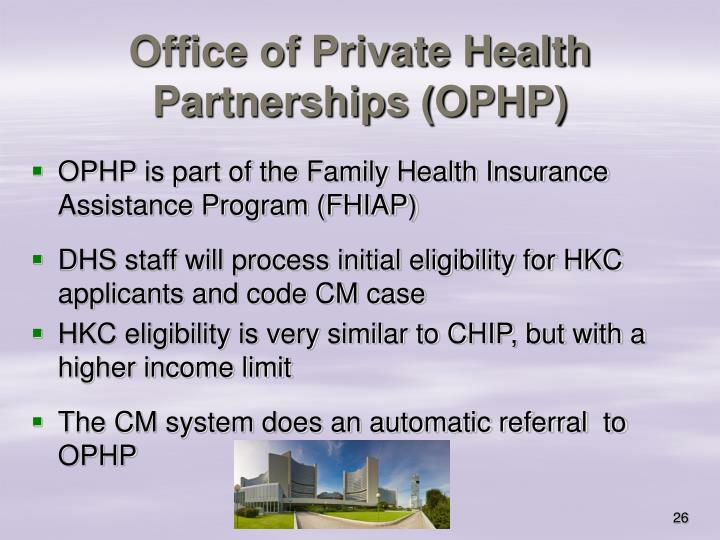 Office of Private Health Partnerships (OPHP)