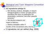 biological and toxin weapons convention